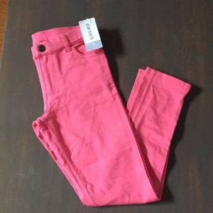 NWT Carter's Coral Pink Jeggings sz 7